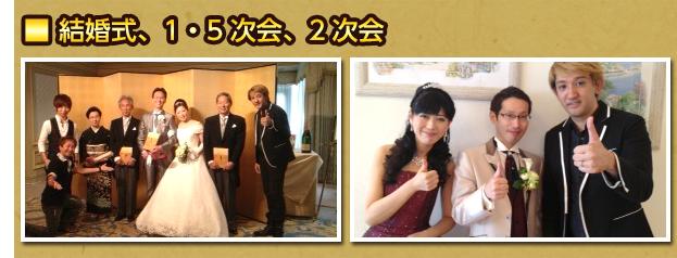 結婚式、1.5次会、2次会
